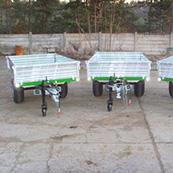 Traktorový návěs BIG 1.5 2100 - pozinkovaný rám a bočnice